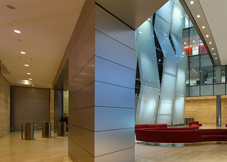 Broadgate Tower,  City of London. Lighting Consultant: MBLD; Architect: SOM; Photographer: Tom Brill